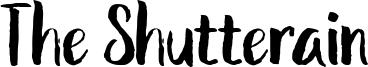 The Shutterain Font