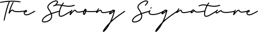 The Strong Signature Font