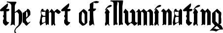 The Art of Illuminating Font