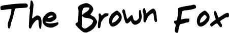 The Brown Fox Font
