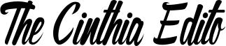 The Cinthia Edito Font