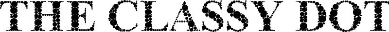 The Classy Dots Font