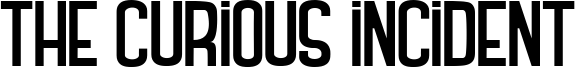 The Curious Incident Font