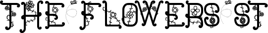 The Flowers St Font
