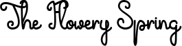 The Flowery Spring Font