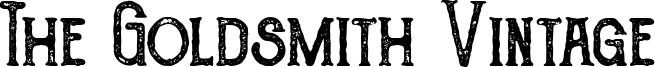 The Goldsmith Vintage Font