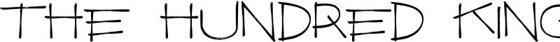 The Hundred King Font