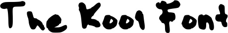 The Kool Font Font