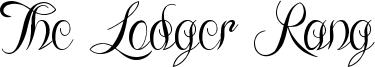 The Lodger Rang Font