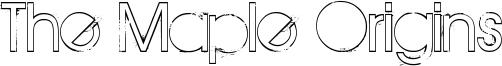 The Maple Origins Font