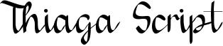 Thiaga Script Font