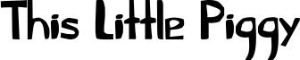 This Little Piggy Font
