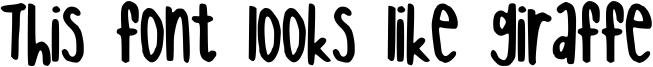 This font looks like giraffe Font
