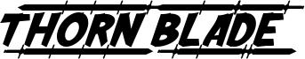 Thorn Blade Font