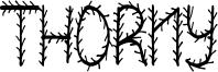 Thorny Font