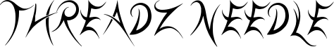 Threadz Needle Font
