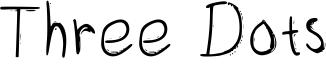 Three Dots Font