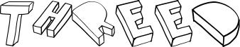 Threed Font