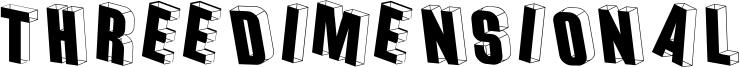 Threedimensional Font