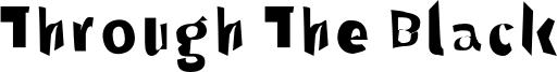 Through The Black Font