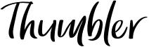 Thumbler Font