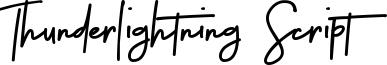 Thunderlightning Script Font