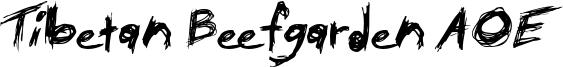 Tibetan Beefgarden AOE Font