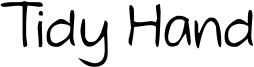 Tidy Hand Font