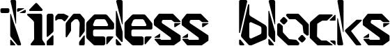 Timeless Blocks Font