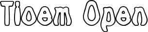 Tioem Open Font