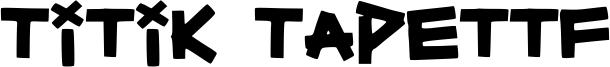 Titik Tapettf Font