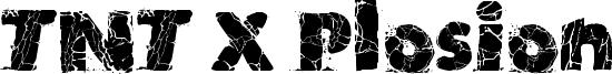 TNT X Plosion Font