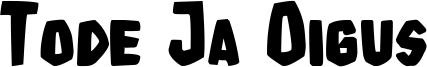 Tode Ja Oigus Font