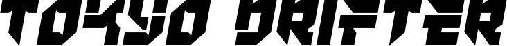 Tokyo Drifter Font