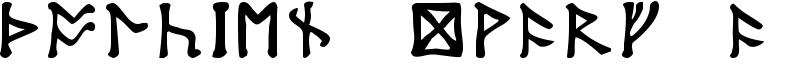 Tolkien Dwarf Runes Font