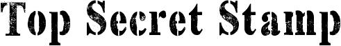 Top Secret Stamp Font
