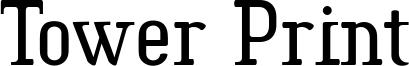 Tower Print Font