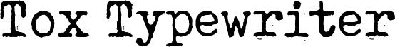 Tox Typewriter Font