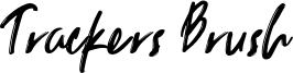 Trackers Brush Font