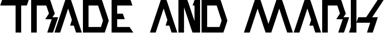 Trade And Mark Font