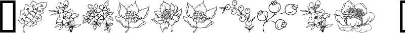 Traditional Floral Design Font