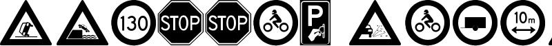Traffic Signs TFB Font