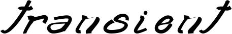Transient Font