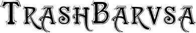 TrashBarusa Font