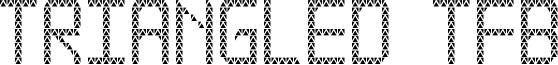 Triangled TFB Font