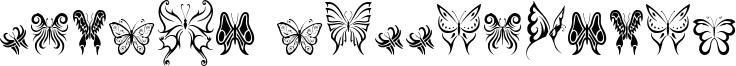Tribal Butterflies Font
