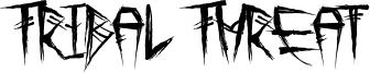 Tribal Threat Font
