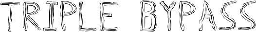 Triple Bypass Font