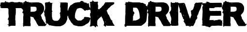 Truck Driver Font