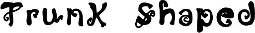 Trunk Shaped Font